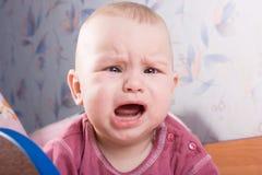 baby crying Στοκ Φωτογραφία