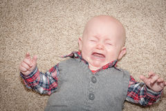 Baby Crying Royalty Free Stock Photo