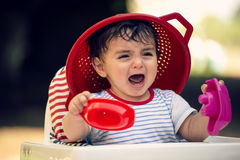 Baby is crying Royalty Free Stock Photography