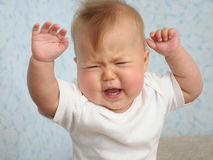 Baby crying emotional Royalty Free Stock Photography