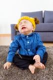 Baby crying at home Royalty Free Stock Image