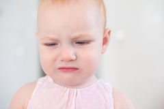 The baby is crying Stock Image