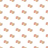 Baby cubes pattern Royalty Free Stock Images