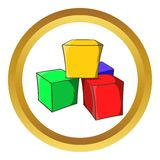 Baby cubes vector icon Stock Image