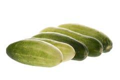 Baby Cucumbers Macro Royalty Free Stock Photo