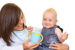 Baby cup Royalty Free Stock Photo