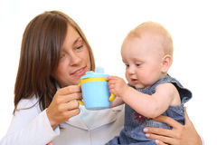 Baby cup Stock Image