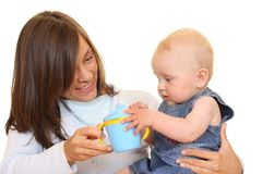 Baby cup Royalty Free Stock Images