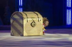 Baby-Cup BelSwissBank international children's competitions in gymnastics , 20 December 2012 in Minsk, Belarus. Stock Photos