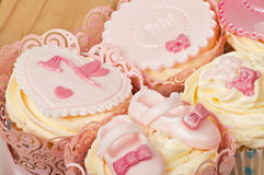 Baby cupcake detail Royalty Free Stock Photo