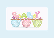 Baby cupcake Stock Images