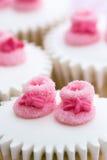baby cupcakes shower Στοκ φωτογραφίες με δικαίωμα ελεύθερης χρήσης