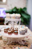 Baby cupcakes on the table. Royalty Free Stock Photos