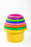 Baby cups. Toy to develope logical association skills Royalty Free Stock Photography