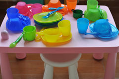 Baby cups and bowls Royalty Free Stock Photo