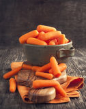 Baby cut carrots Stock Image