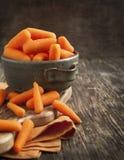 Baby cut carrots Stock Photos