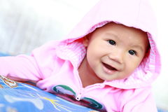 Baby Cute Baby Girl Portrait Stock Image