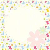 Baby cute background with dresses Royalty Free Stock Photography