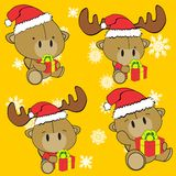 Baby cute camel cartoon xmas set Stock Image