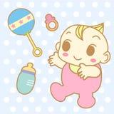 Baby cute cartoon vector and toys Stock Photos