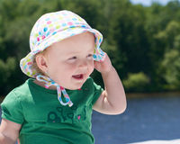 Baby with cute hat Stock Photography