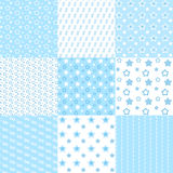 Baby cute patterns collection. Royalty Free Stock Photography