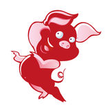 Baby Cute Pig Dance Vector Stock Photos