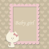 Baby cute pink frame for little Princess. Stock Photos