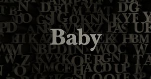 Baby - 3D rendered metallic typeset headline illustration Royalty Free Stock Photo