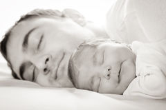 Baby with dad Royalty Free Stock Photos