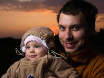 Baby with dad Royalty Free Stock Image