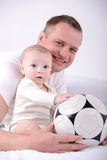 Baby and Dad stock images