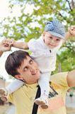 Baby and dad Royalty Free Stock Photography
