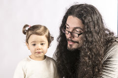 Baby and daddy Royalty Free Stock Photography