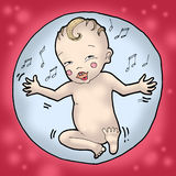 Baby dancing in a bubble Stock Image