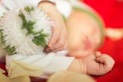 Baby, das süß schläft Lizenzfreie Stockfotografie