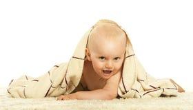 Baby, das in Windel kriecht Lizenzfreies Stockfoto