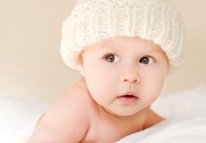 Baby in de hoed Royalty-vrije Stock Foto's