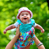 Baby in de lucht Royalty-vrije Stock Afbeelding