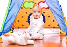 Baby in de tent Royalty-vrije Stock Foto