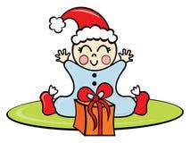Baby in de tijd van Kerstmis Royalty-vrije Stock Afbeeldingen