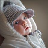 Baby in de winter Royalty-vrije Stock Afbeelding