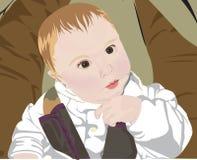 Baby in de Zetel van de Auto royalty-vrije illustratie