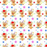 Baby Deer Christmas Pattern Royalty Free Stock Photo