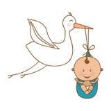 Baby delivery crane icon image Stock Photos