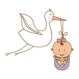 Baby delivery crane icon image Royalty Free Stock Photo