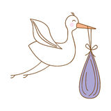 Baby delivery crane icon image Royalty Free Stock Photos