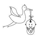Baby delivery crane icon image Stock Images