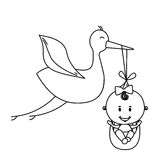 Baby delivery crane icon image Stock Photography